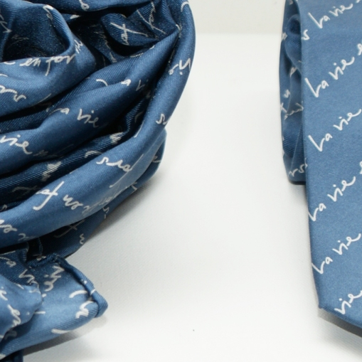 Seidenfoulard und Krawatte für FORS